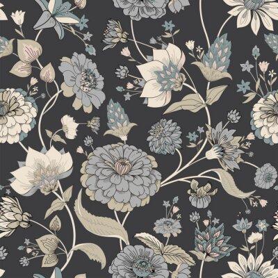 Tapeta Floral seamless original pattern in vintage paisley style