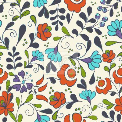 Tapeta Folklor Kwiaty Na Wazach