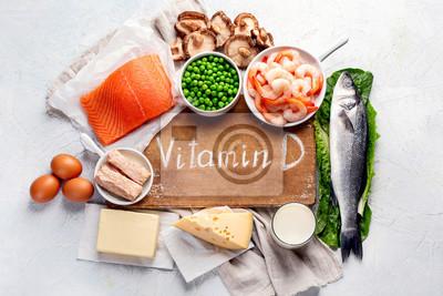 Tapeta Foods rich in natural vitamin D