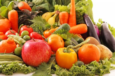 Tapeta Fresh and healthy variety vegetables and fruits