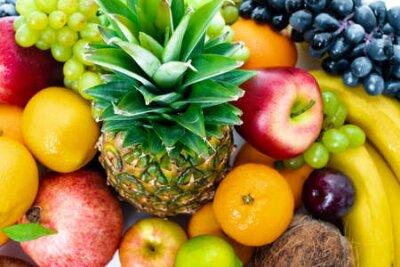 Tapeta Fresh fruits background.Healthy eating