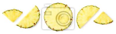 Fresh ripe pineapple slices
