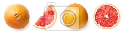 Fresh whole, half and sliced grapefruit