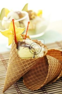 Tapeta Fruit Ice Cream Cone