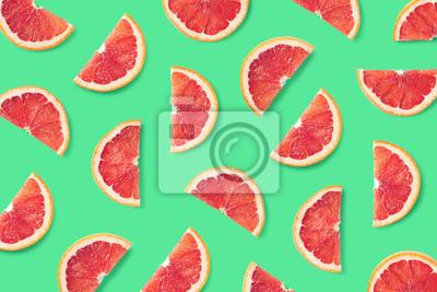 Tapeta Fruit pattern of grapefruit slices