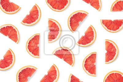 Fruit pattern of grapefruit slices