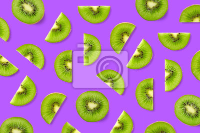 Tapeta Fruit pattern of kiwi slices
