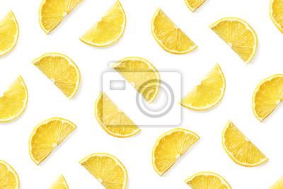Fruit pattern of lemon slices