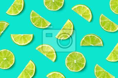 Tapeta Fruit pattern of lime slices