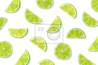 Fruit pattern of lime slices