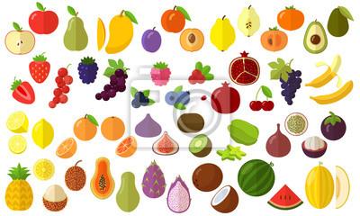 Tapeta fruits vector icon set