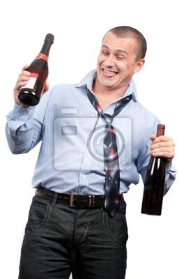 Tapeta Funny pijany biznesmen
