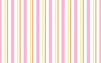 Tapeta geometric background of pastel pink, yellow, orange and white stripes