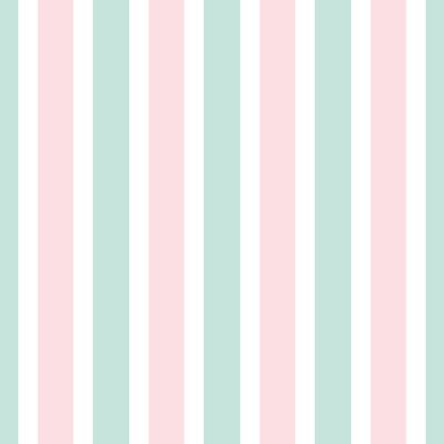 Tapeta Geometric stripe seamless pattern of pink and green color.