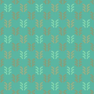 Tapeta Geometryczna lasowa bezszwowa tekstura, prosty i elegancki geometryczny projekt
