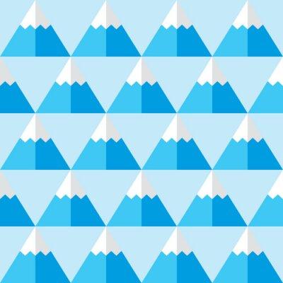 Tapeta Geometryczne szwu z góry - zima w tle