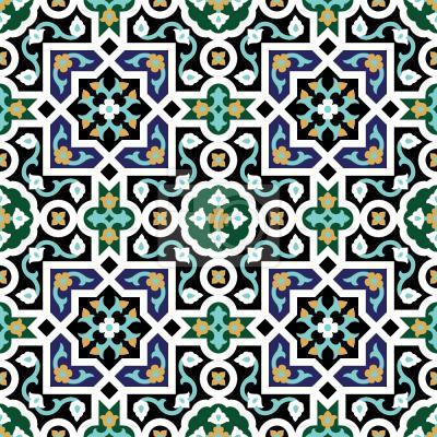 Tapeta geometryczny arabeski