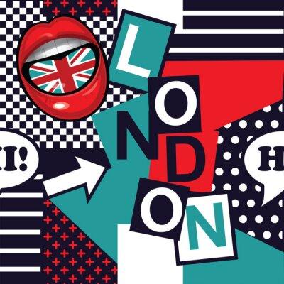 Tapeta Geometryczny pop sztuki bez szwu deseń London