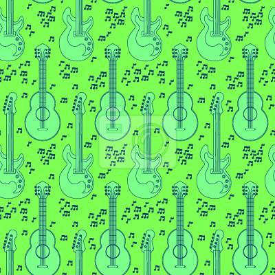 Tapeta Gitara akustyczna i nuty