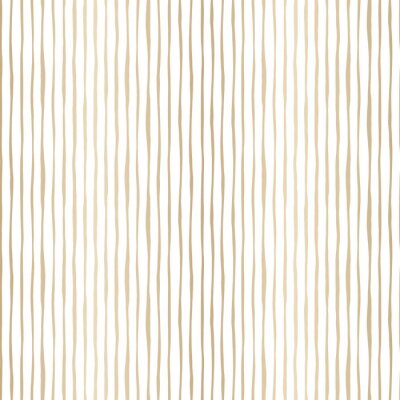 Tapeta Gold Thin Hand Drawn Wavy Uneven Vertical Stripes On White Backrgound Vector Seamless Pattern. Classic Abstract Geo
