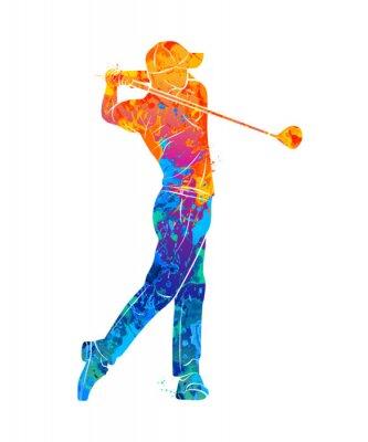 Tapeta Golf Sportowa Sylwetka