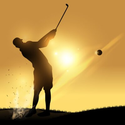 Tapeta Golfista huśtawka