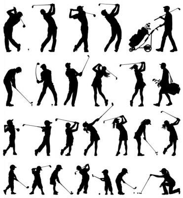 Tapeta Golfista wektor sylwetki kolekcji