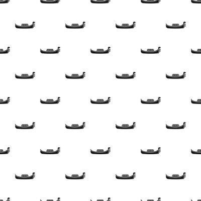 Tapeta Gondola wzór. Prosta ilustracja wzór gondoli wektorowych dla sieci