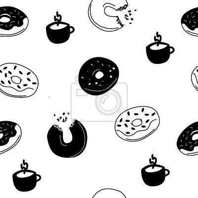 Tapeta gorące Donuty