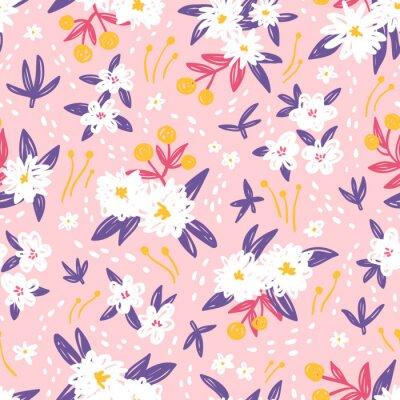 Tapeta Gorgeous rocznika kwiatowy szwu