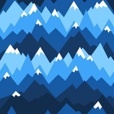 Tapeta Góry niebieski wzór. Tło dla turystyki pieszej i odkryty koncepcji.