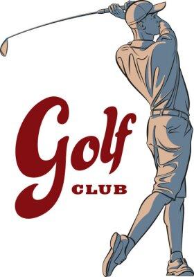 Tapeta Gracz w golfa