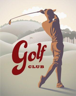 Tapeta Gracz w golfa na polu
