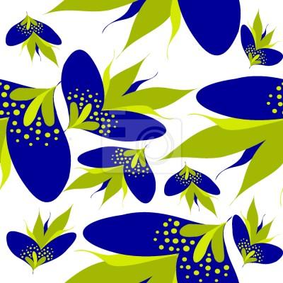 Tapeta Graficzne kwiaty fantazji