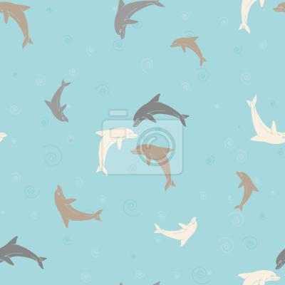 Tapeta Grając delfiny