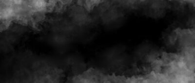 Tapeta Gray smoke on black color abstract watercolor background