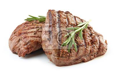 Tapeta grilled beef fillet steak meat