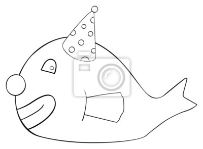 Tapeta Happy holiday - April fish Clown