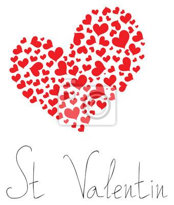 Tapeta Happy holiday - Hearts of St Valentin