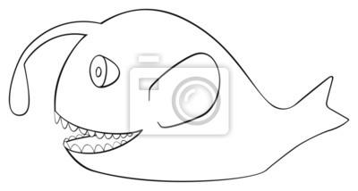 Tapeta Happy holiday - kwiecień frogfish ryb