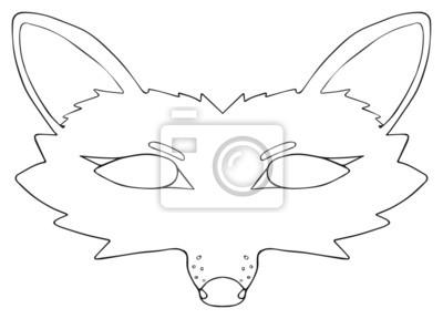 Tapeta Happy holiday - Mask of Skilful fox