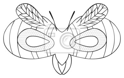 Tapeta Happy holiday - Maska pasiastej Wasp