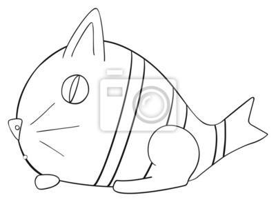 Tapeta Happy holiday - Ryby kwietnia Cat