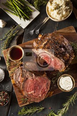 Tapeta Homemade Trawa Fed Prime Rib Roast