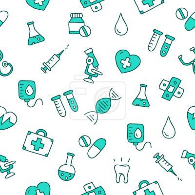 Tapeta Icony medyczne