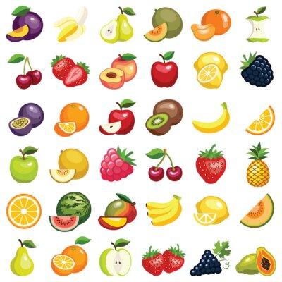 Tapeta Ikona owoce - ilustracji wektorowych