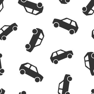 Tapeta Ikona samochodu wzór tła. Ilustracja wektorowa samochodów. Automatyczny wzór symbolu.