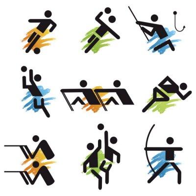 Tapeta Ikony sportowe