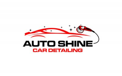 Tapeta Illustration vector graphic of auto detailing servis logo design template-05