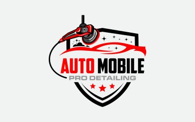 Tapeta Illustration vector graphic of auto detailing servis logo design template